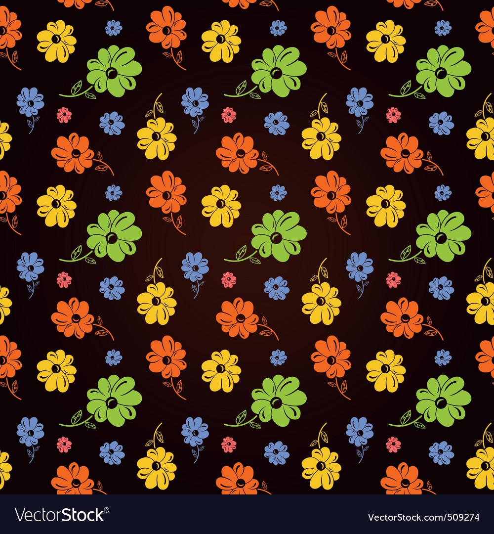 flowers background black. Background Black Vector