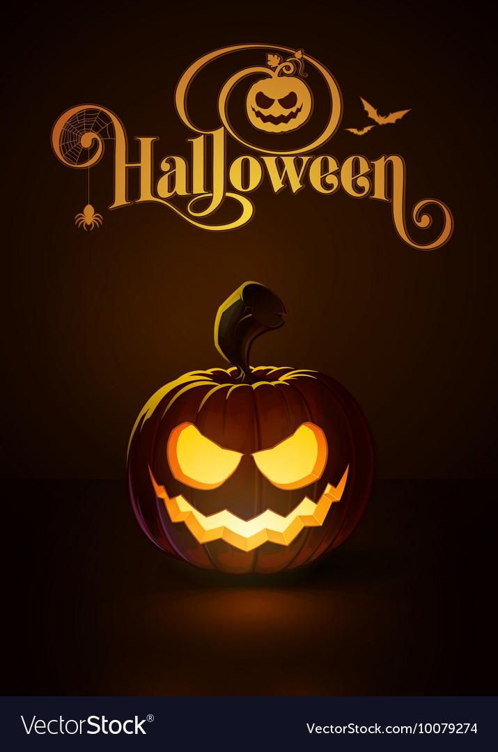 Jack o Lantern Dark Scary Smile