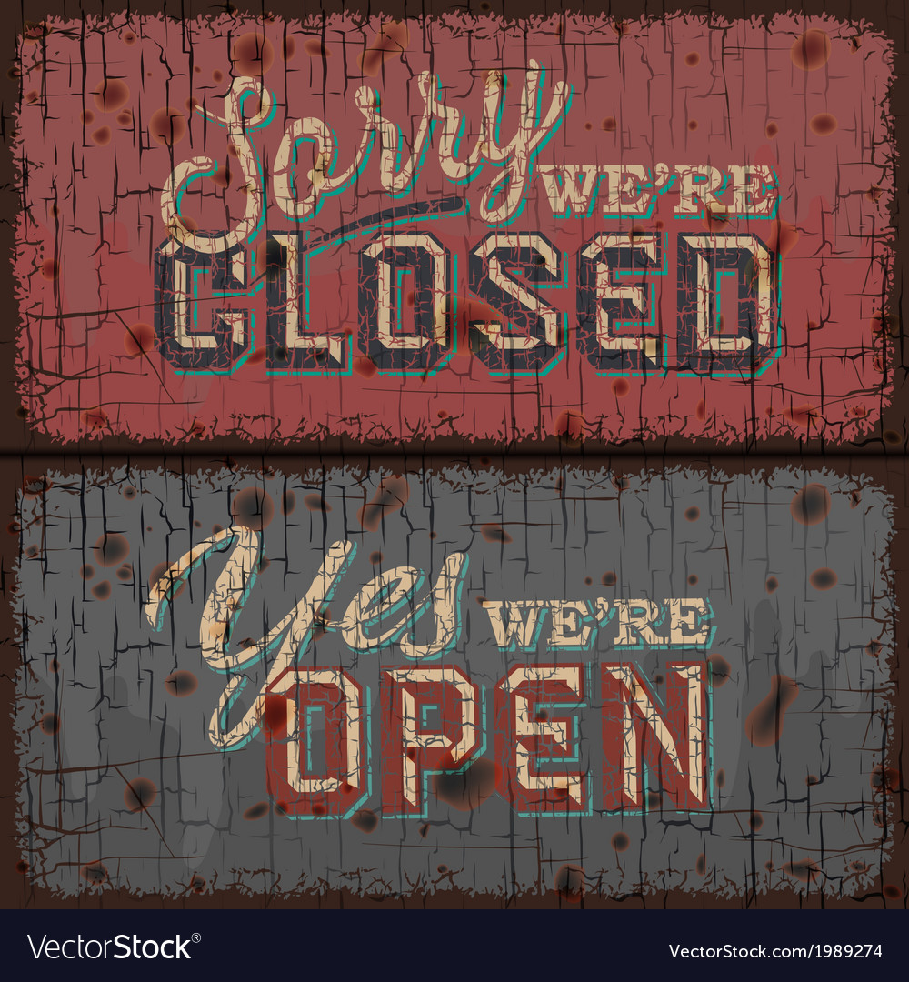 Open and Closed Sign - information retail store