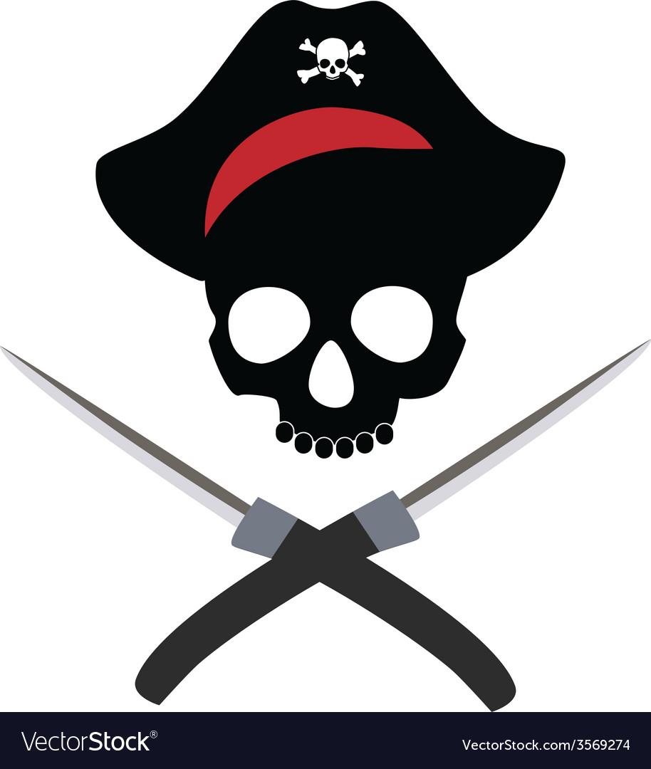 Pirate skull wit crossed daggers
