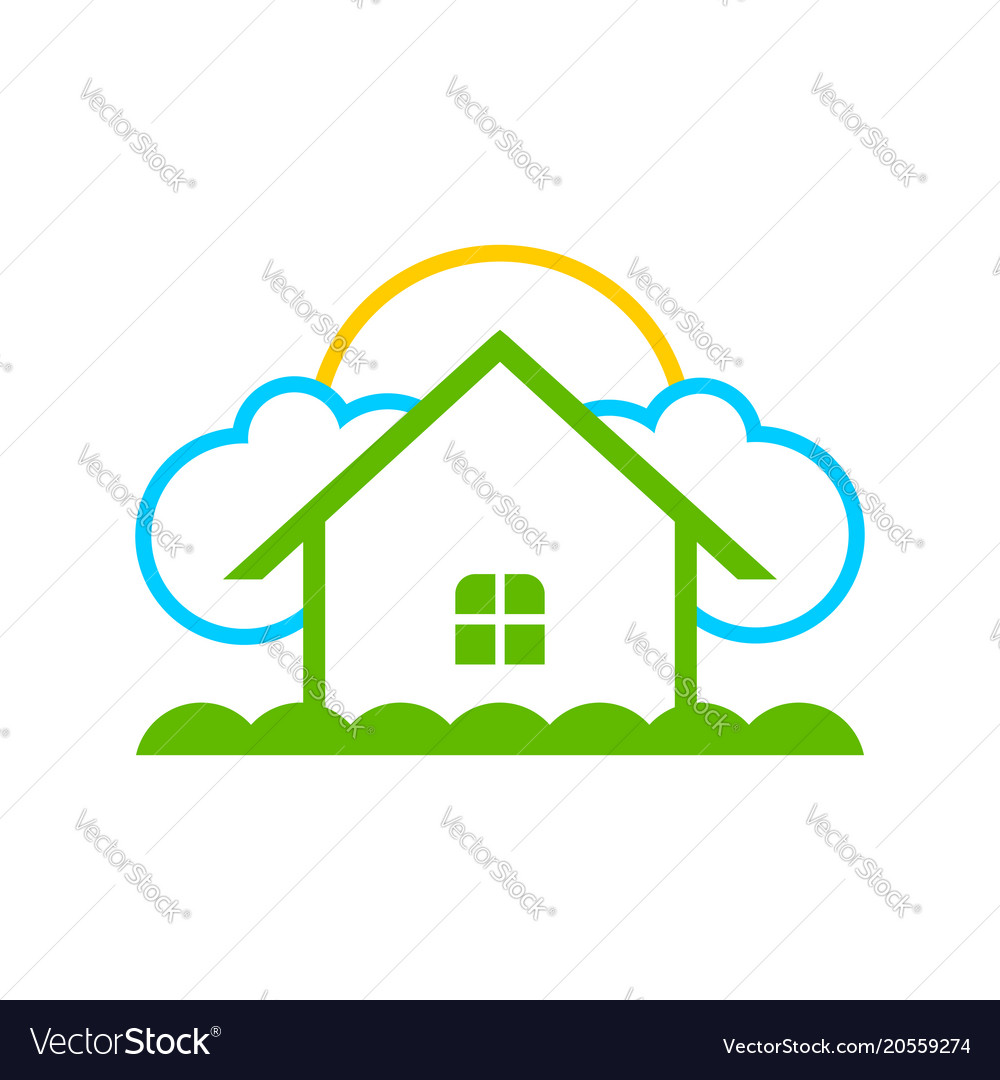 Simple dream home logo symbol design Royalty Free Vector
