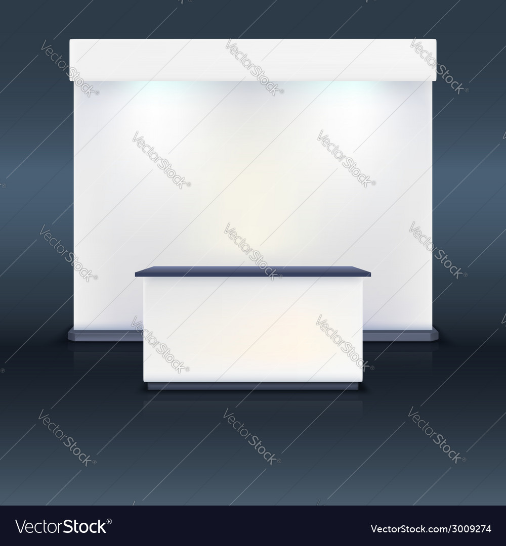 Exhibition Stand Design Brief Pdf : Trade exhibition stand with screen royalty free vector image