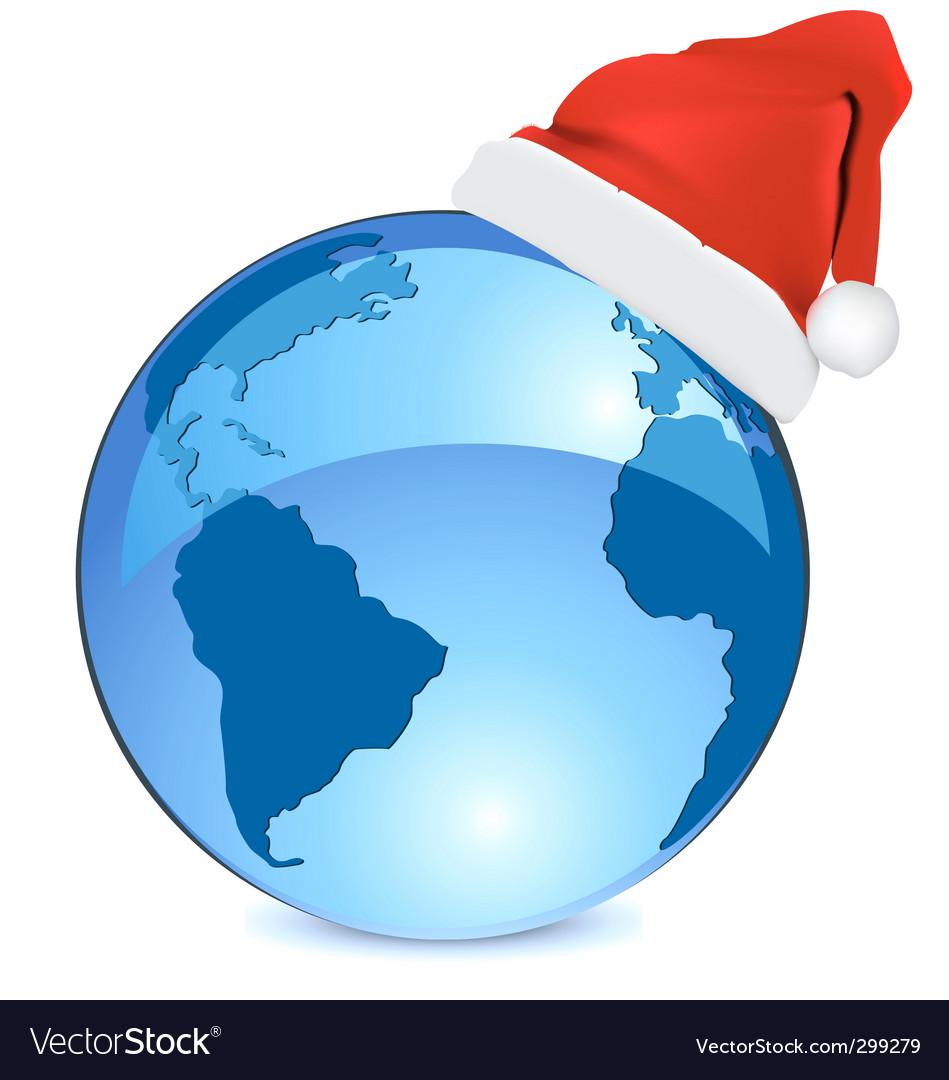 Christmas blue earth
