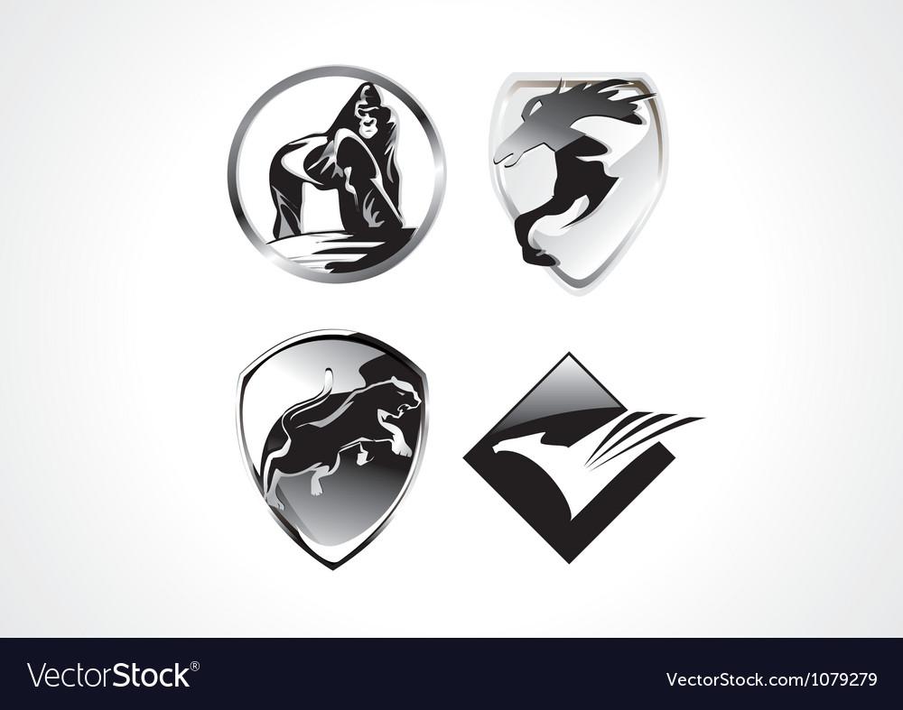Cool amimal symbol vector image