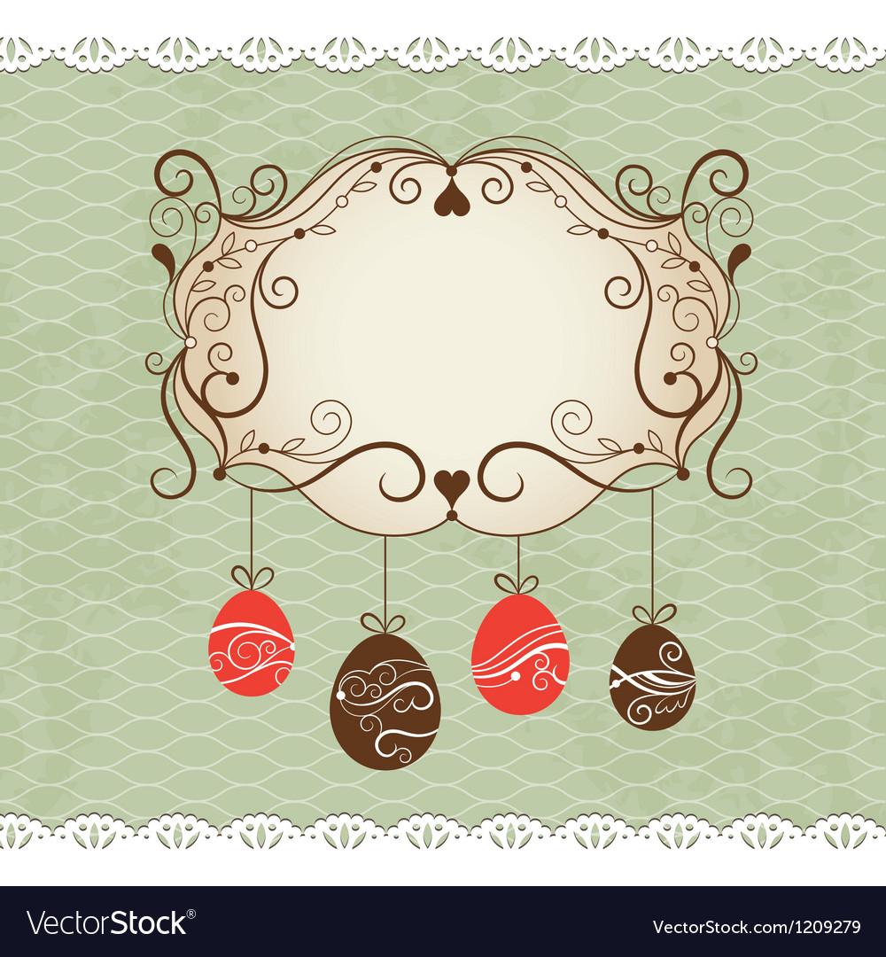 Elegance frame greeting Easter card
