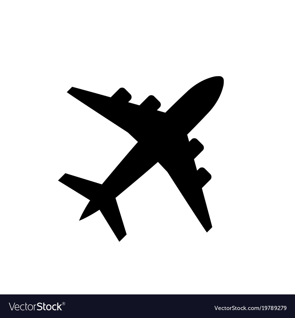 plane icon airplane symbol in flat style vector image rh vectorstock com plane vector equation plane vector free