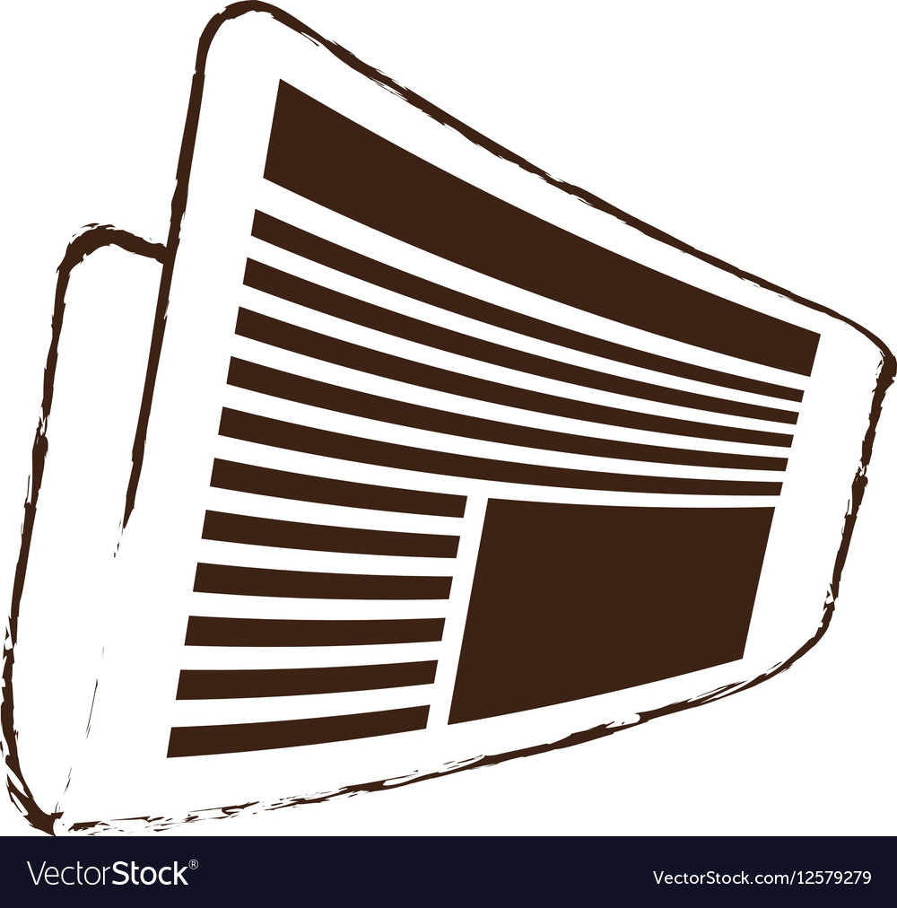 Sketch Draw Newspaper Letter News Daily Royalty Free Vector