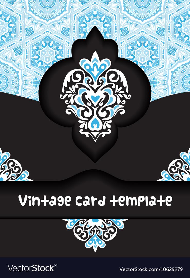 Vintage poster card template design