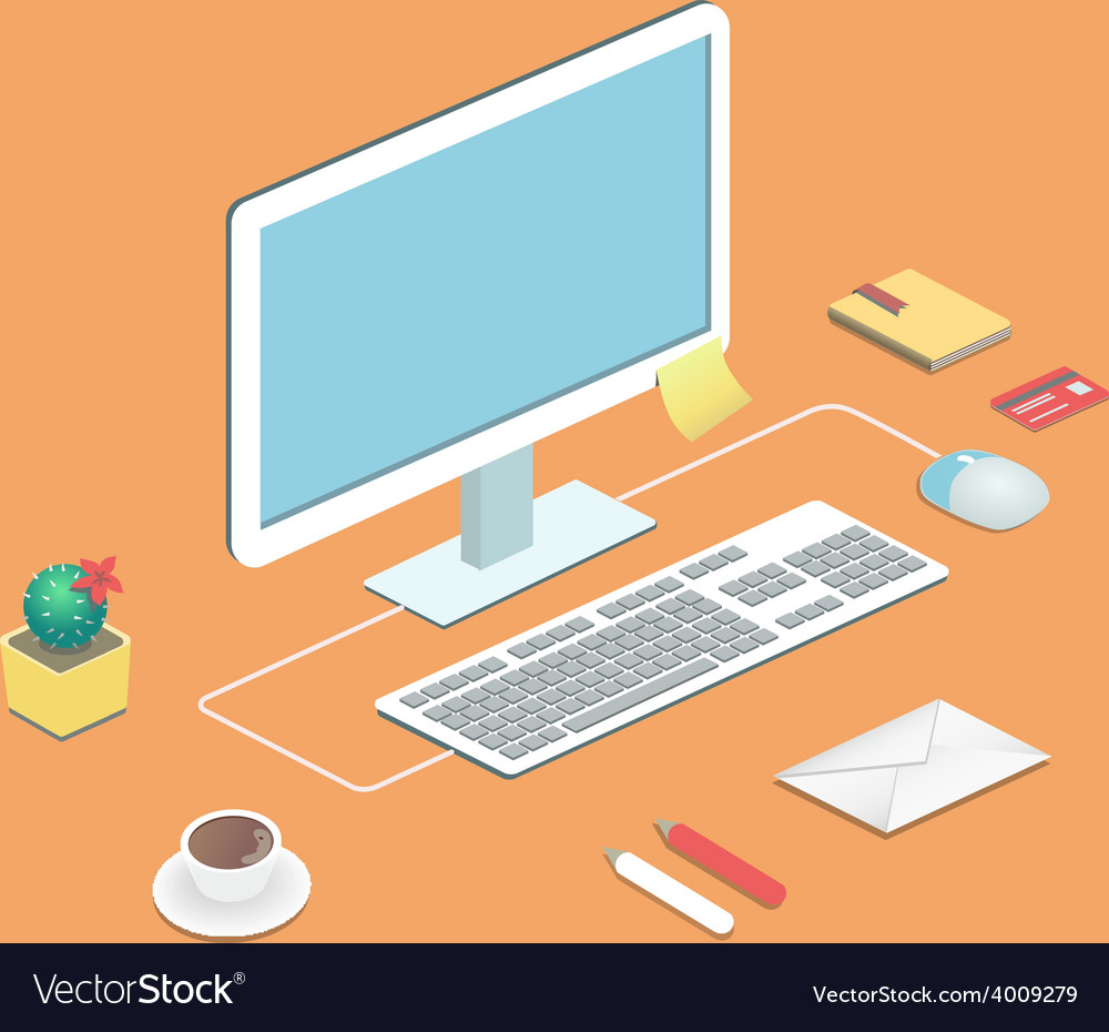 Workplace concept Flat design