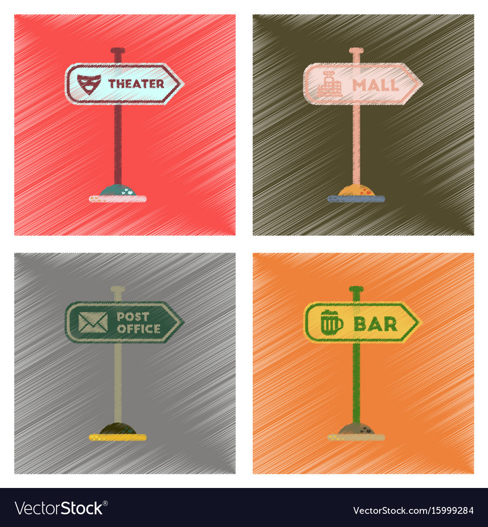 Assembly flat shading style icons sign of bar post