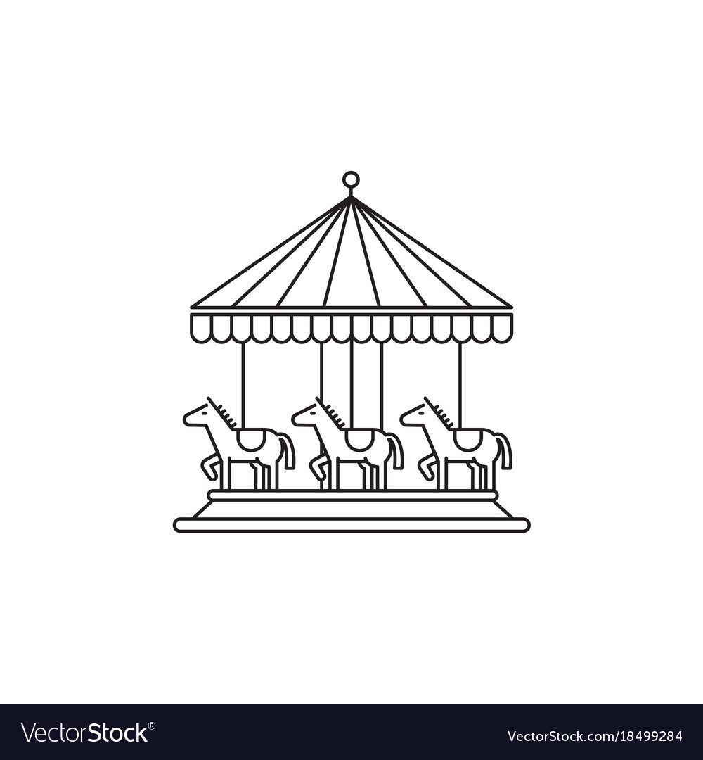 Carousel icon linear design isolated on