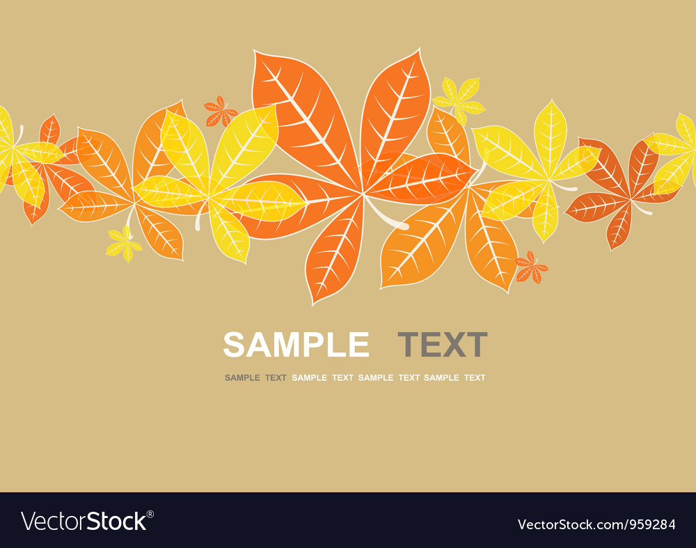 Colored autumn leaves background