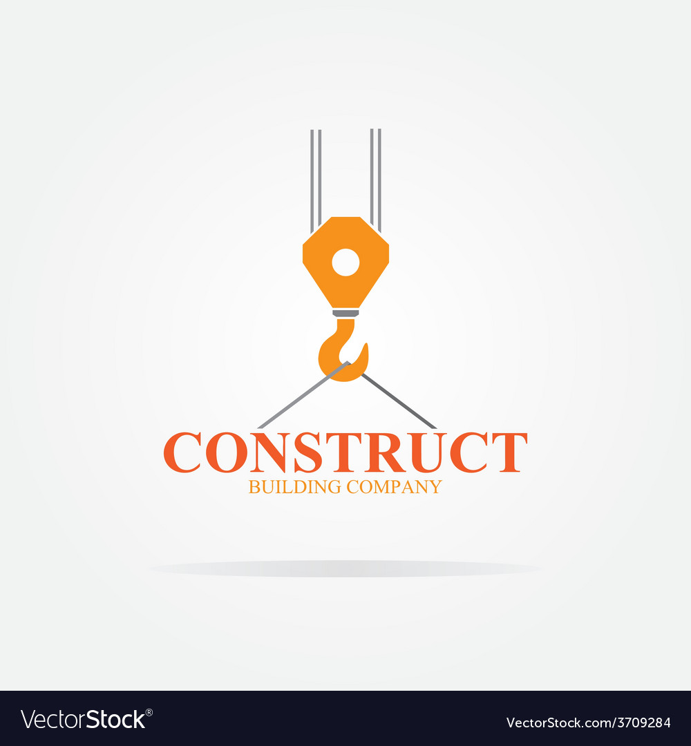 Crane Logo For Construction Company Royalty Free Vector