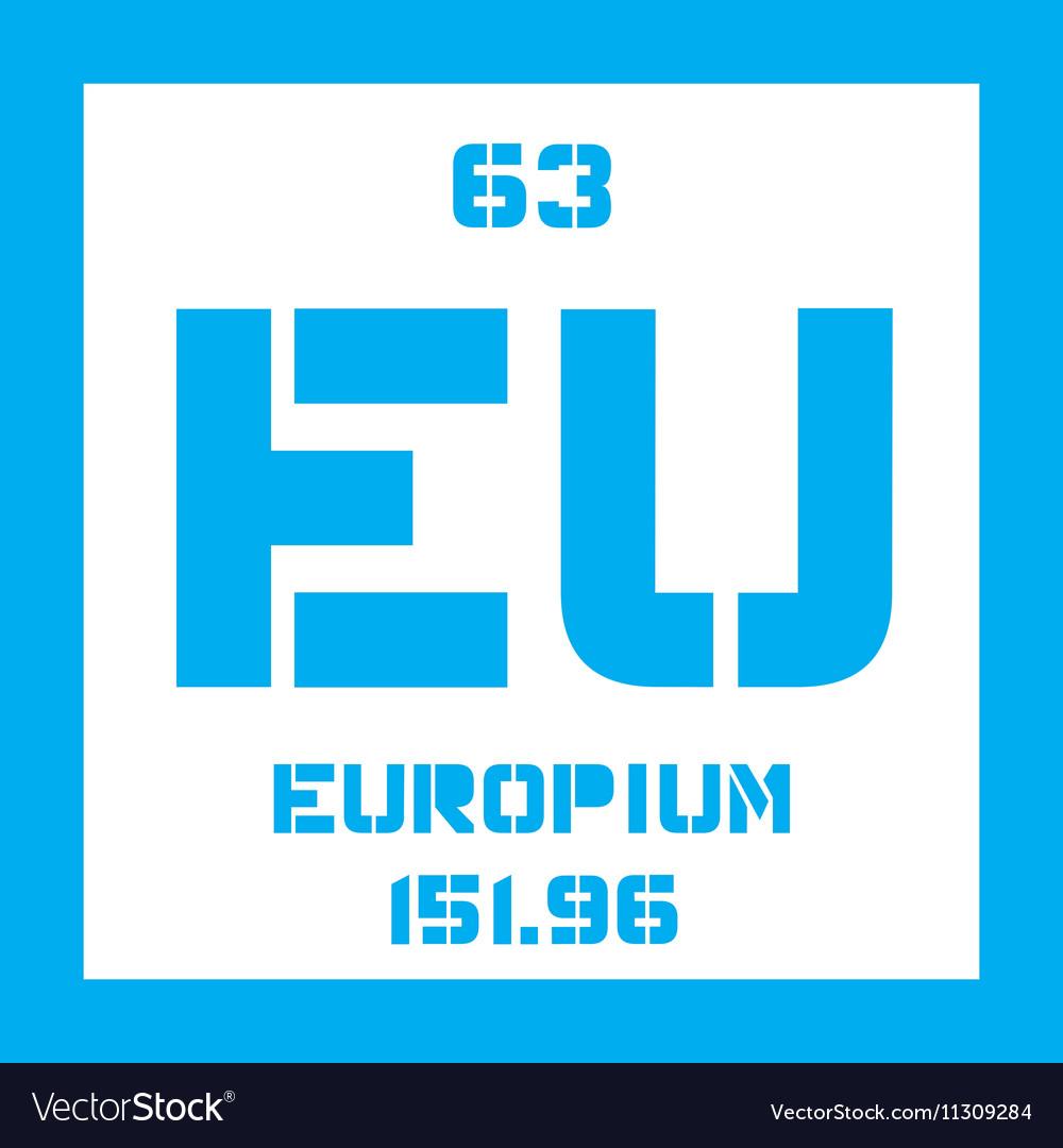 Europium Chemical Element Royalty Free Vector Image