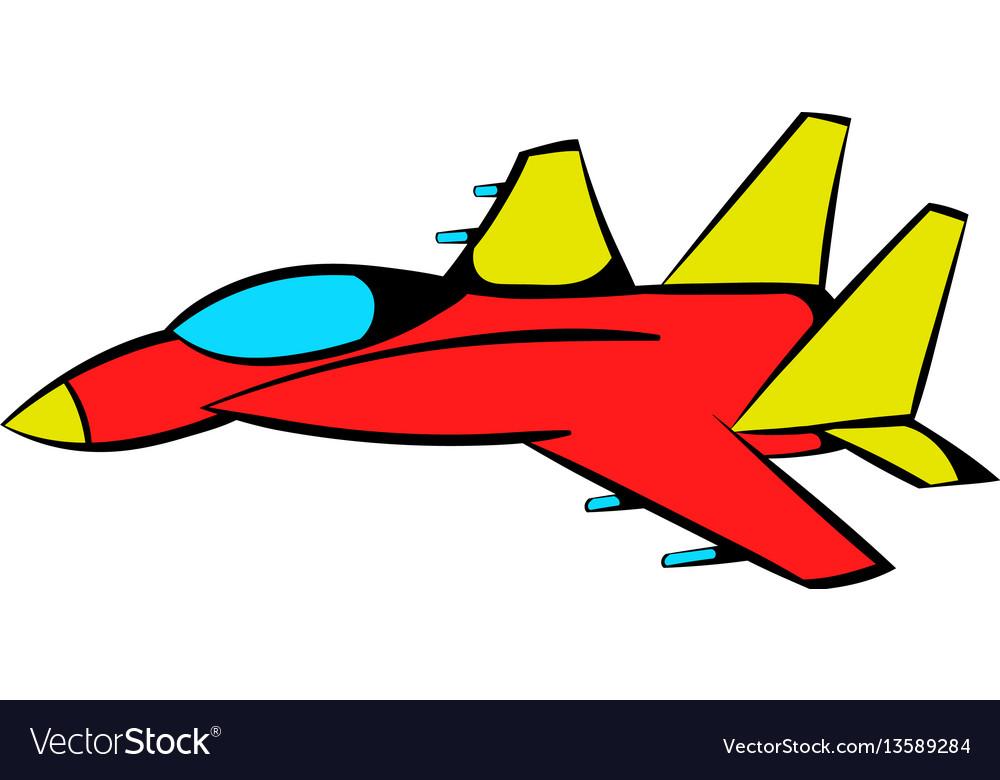 Fighter aircraft icon icon cartoon