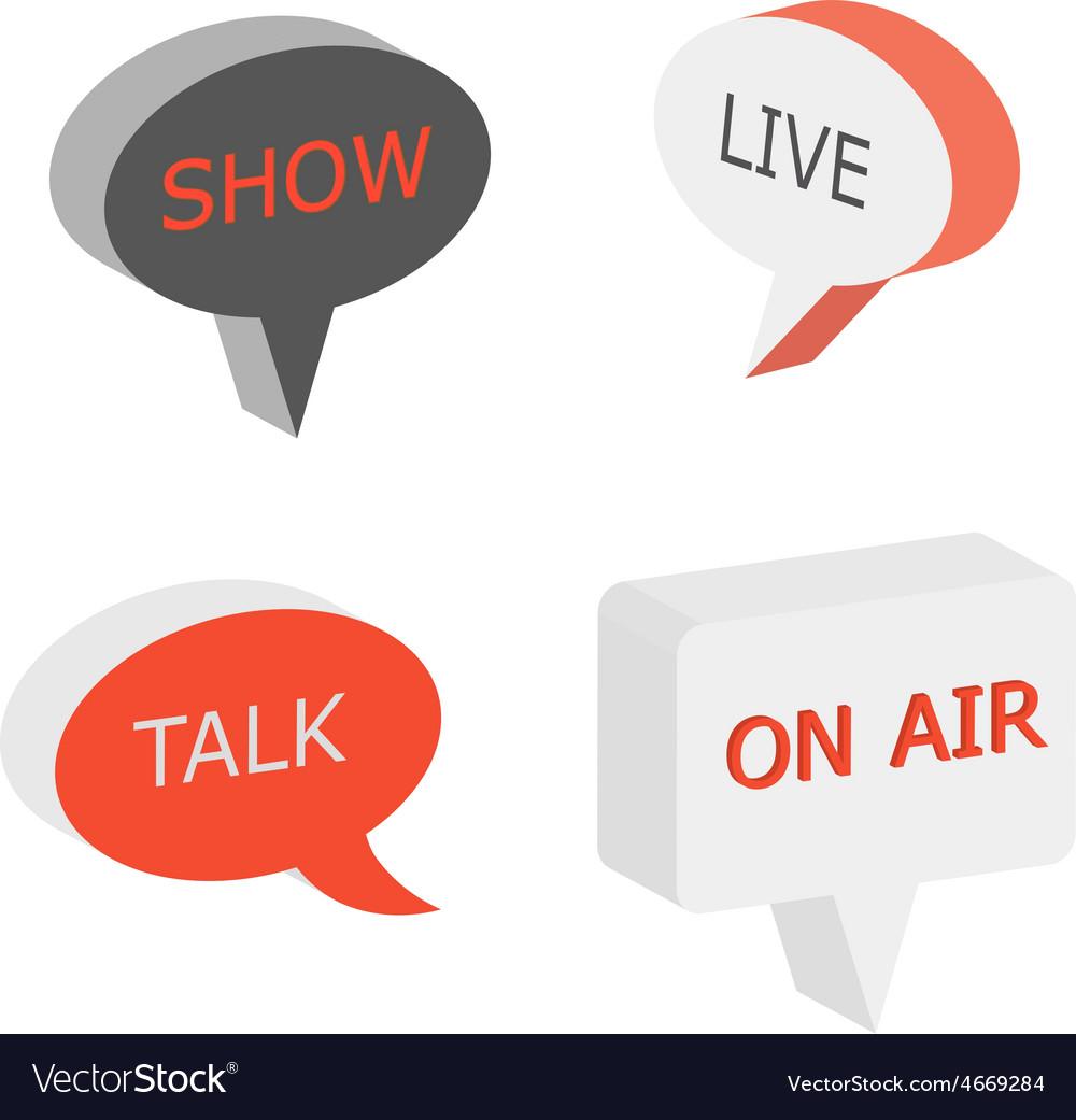 On Air sign talk show symbol