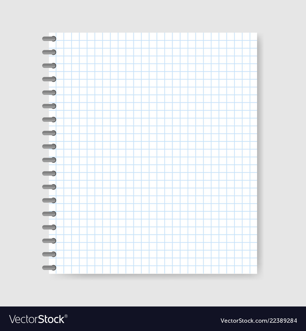 school notebook paper background royalty free vector image