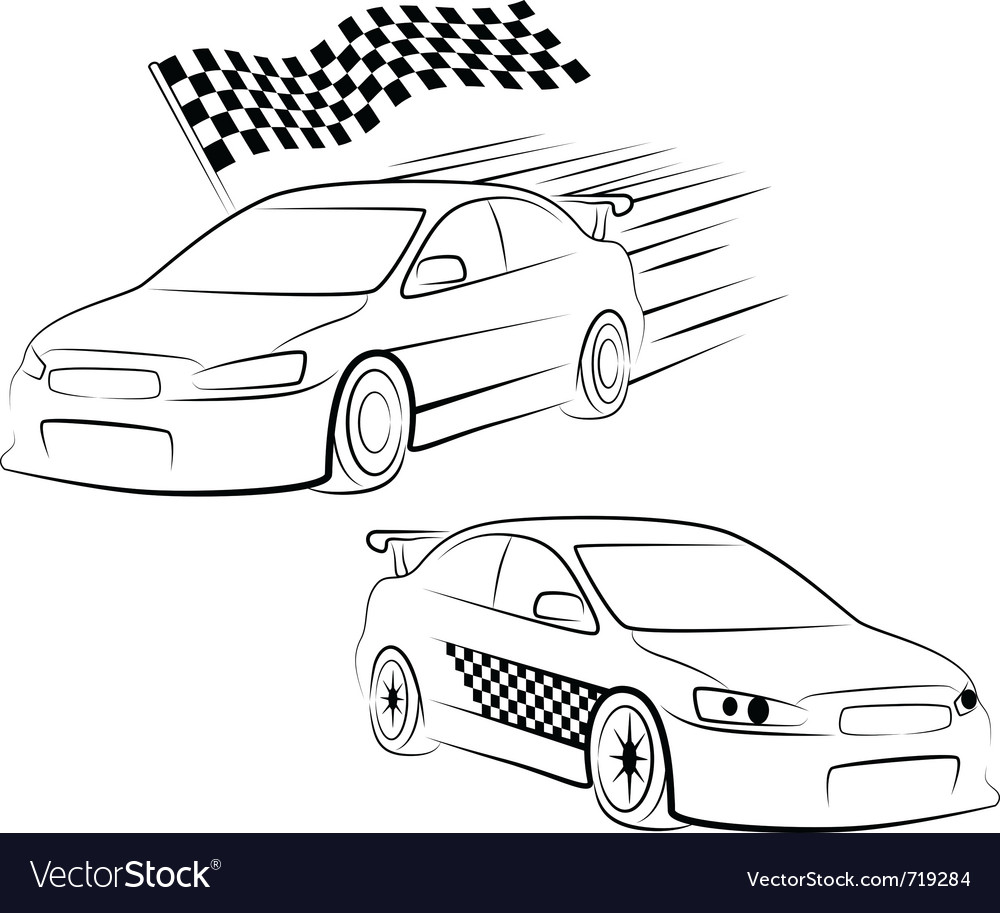 Sports Car Silhouette Royalty Free Vector Image