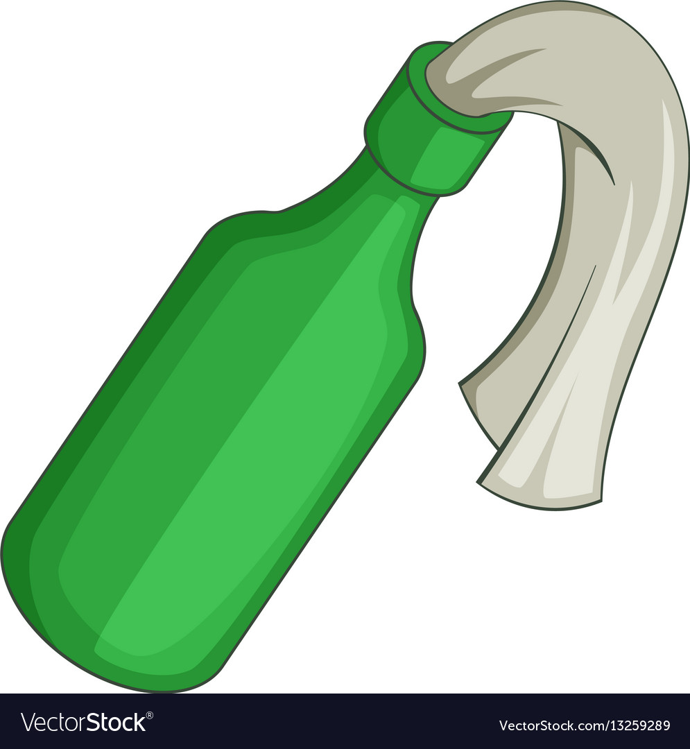 Glass bottle filled with gasoline icon vector image