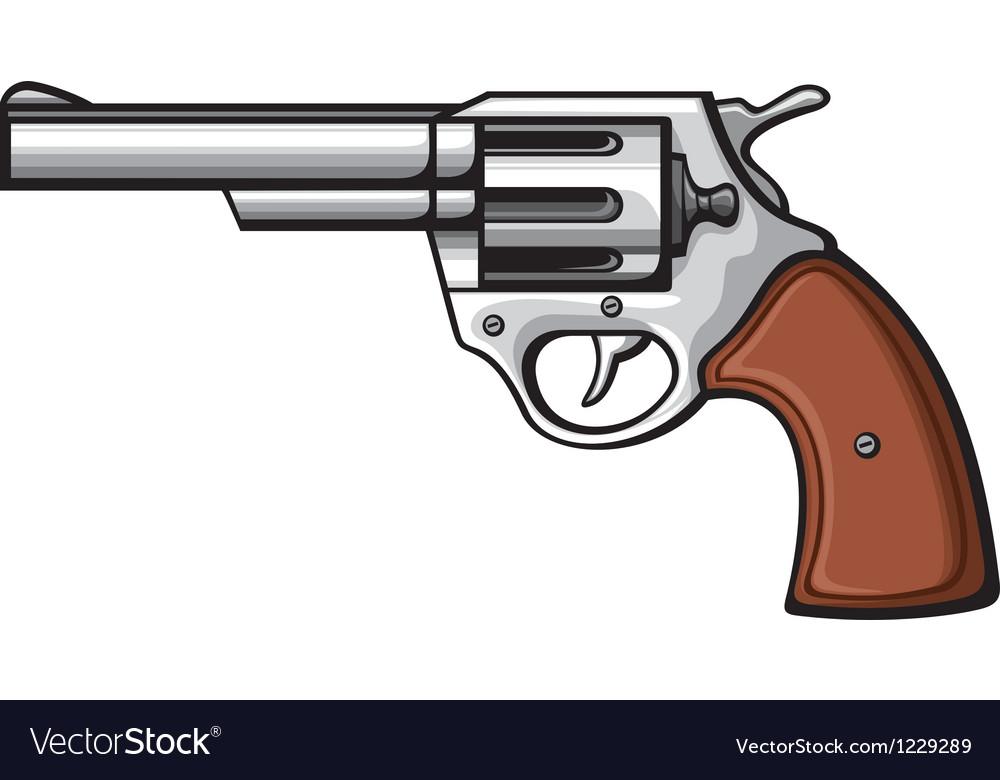 handgun pistol royalty free vector image vectorstock vectorstock