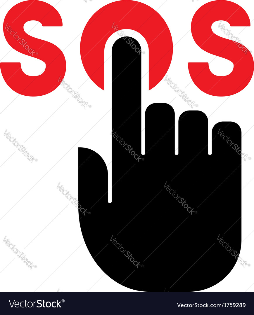 Press SOS button icon vector image