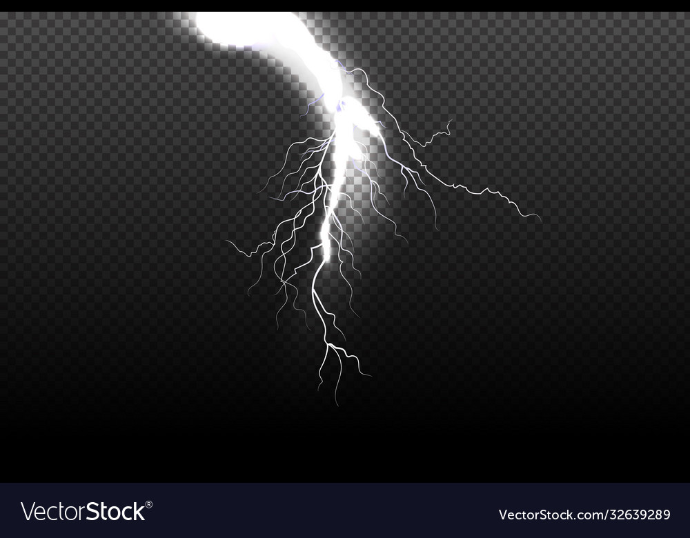 sparkling lightning on black background magic and vector image sparkling lightning on black background magic and vector image