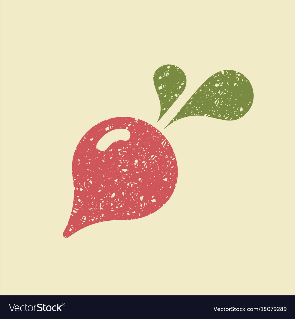 Stylized flat icon of a radish vector image