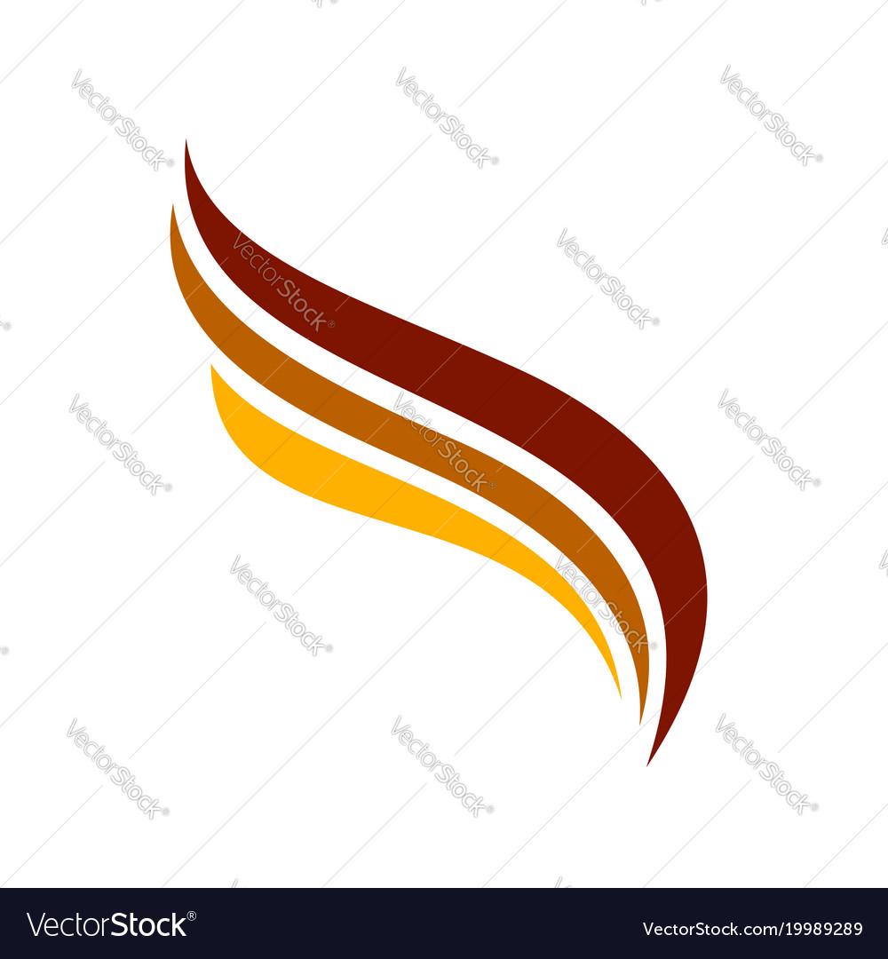 Triple wings symbol line art symbol design