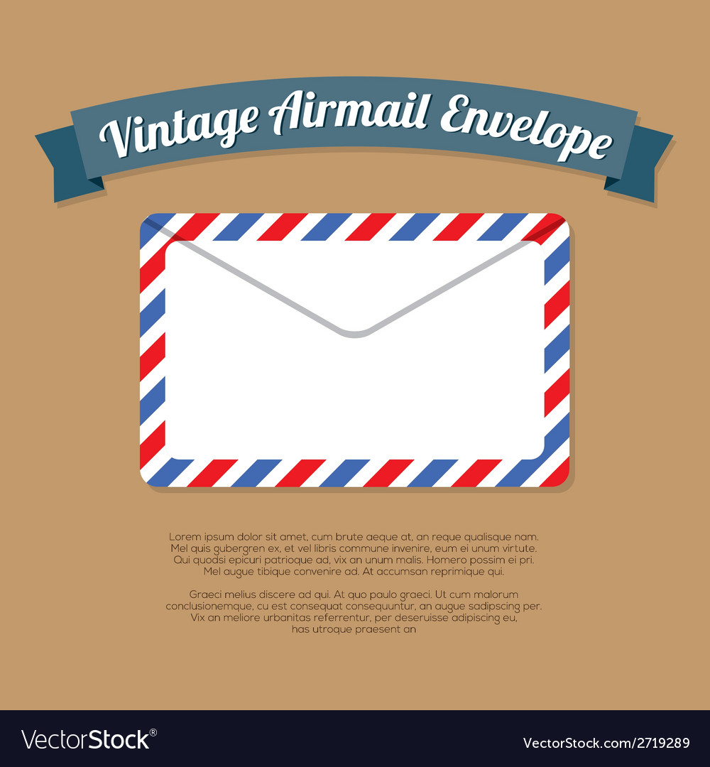 Vintage Mail Envelope