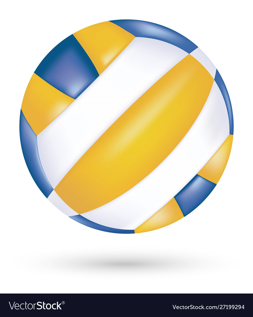 Beach volleyball on a white background