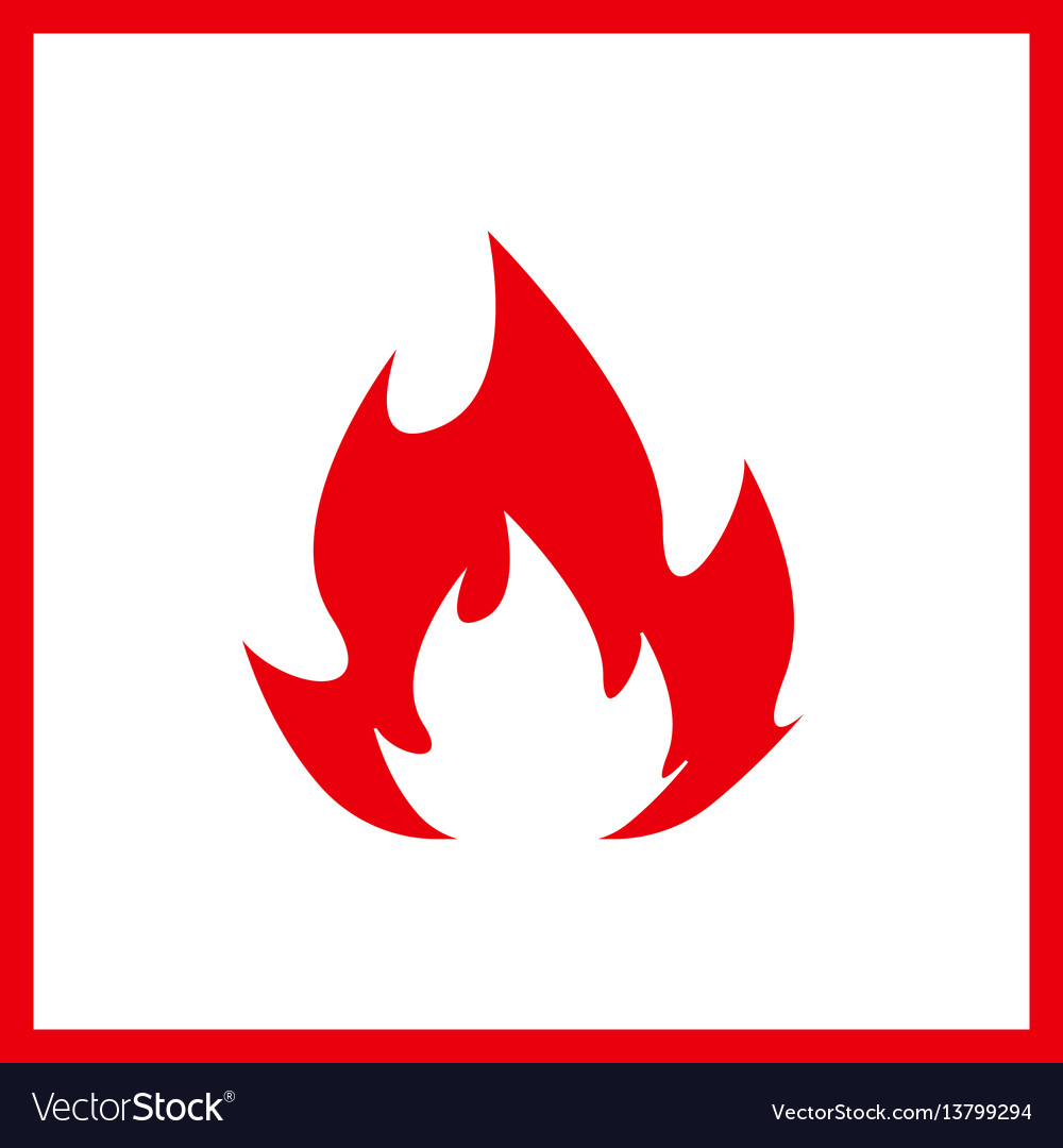Fire icon isolated on white background