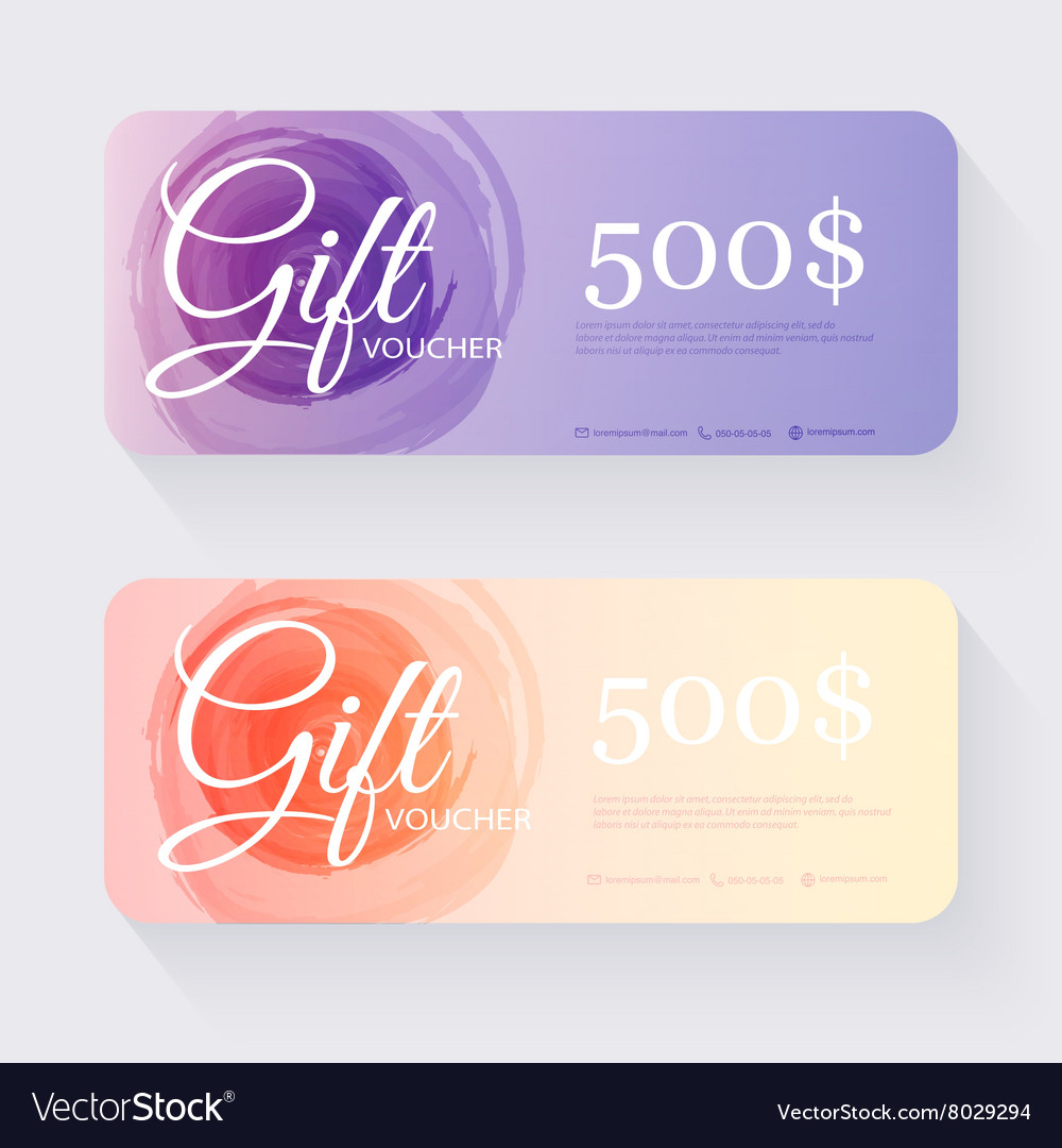 Gift Voucher Template Gift Certificate Background Vector Image