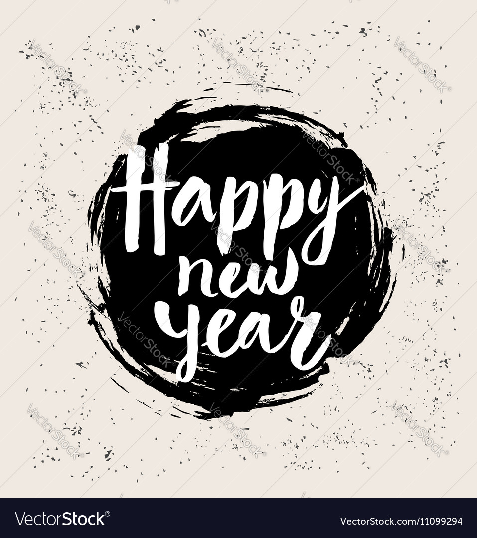 Happy new year in round