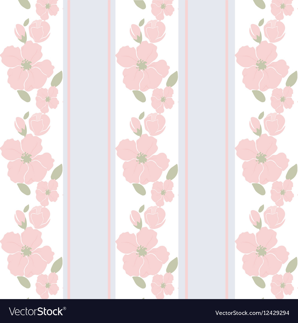 Round Frame With Delicate Pink Flowers Royalty Free Vector