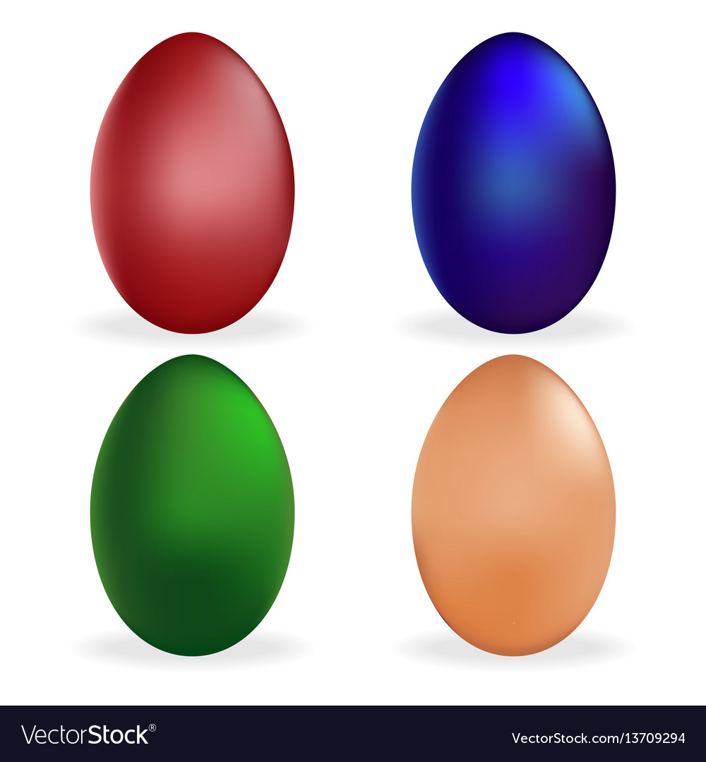 Set easter egg icon holiday symbol isolated vector image