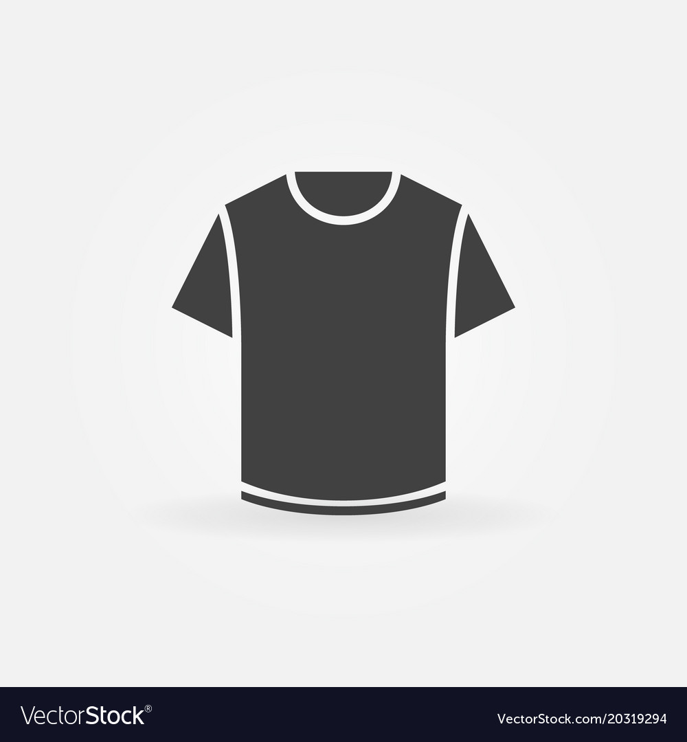 Simple t-shirt concept icon vector image