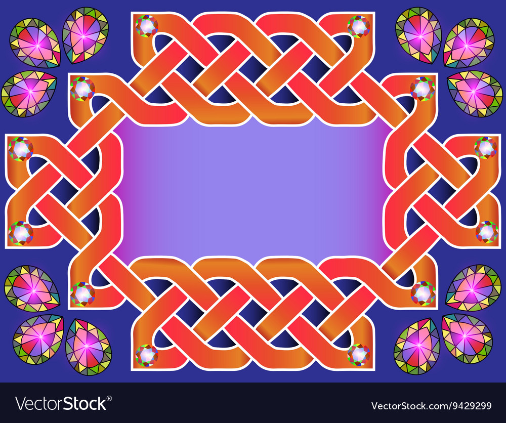 Background frame with beautiful Celtic ornaments