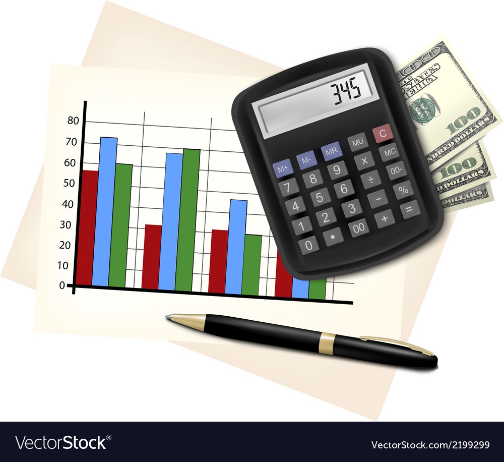 Business concept with finance graphs electronic