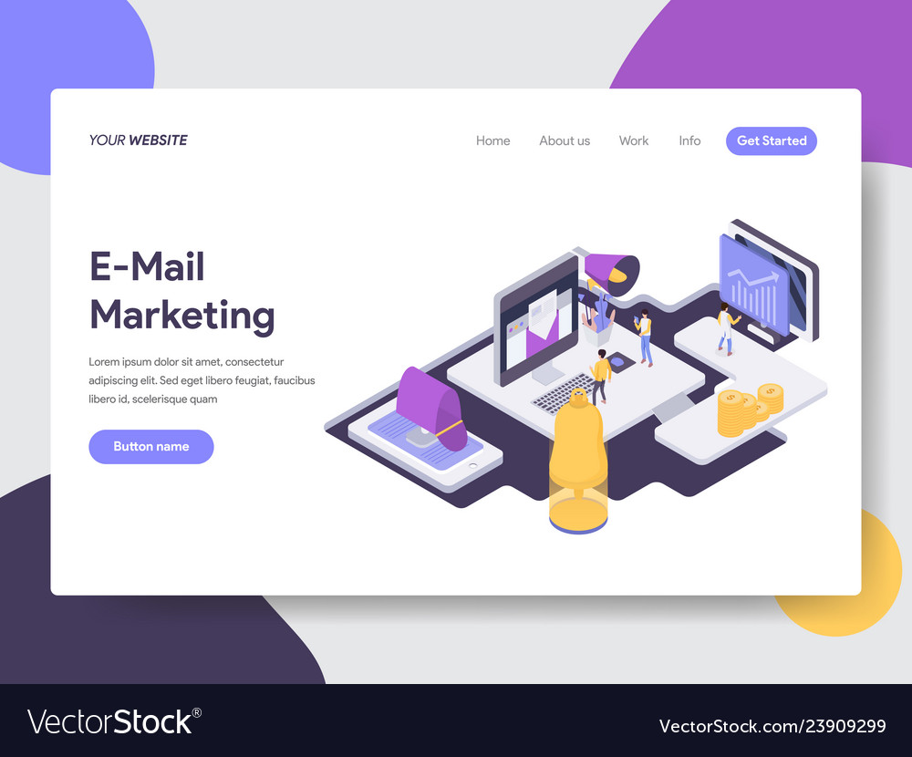 Email marketing isometric