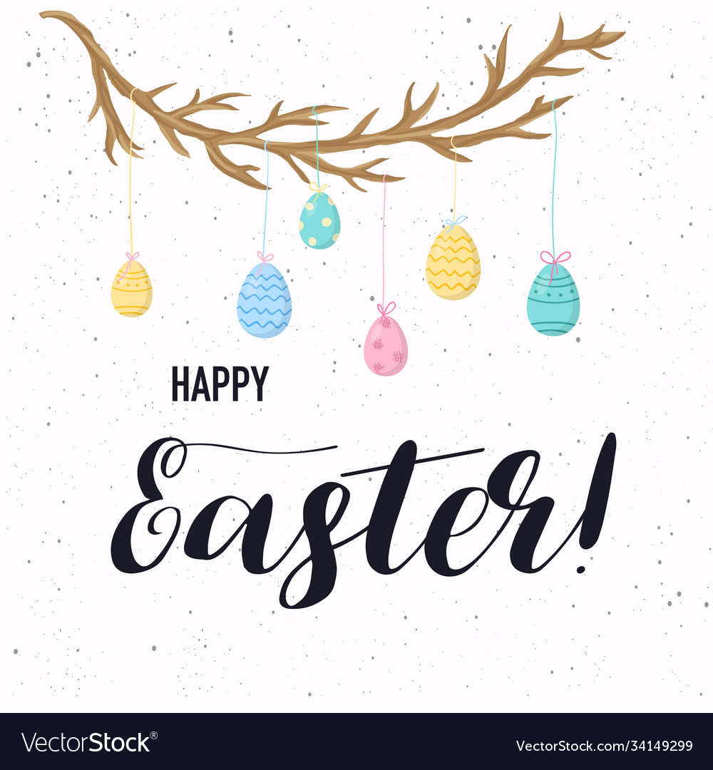 Happy easter greeting card easter eggs