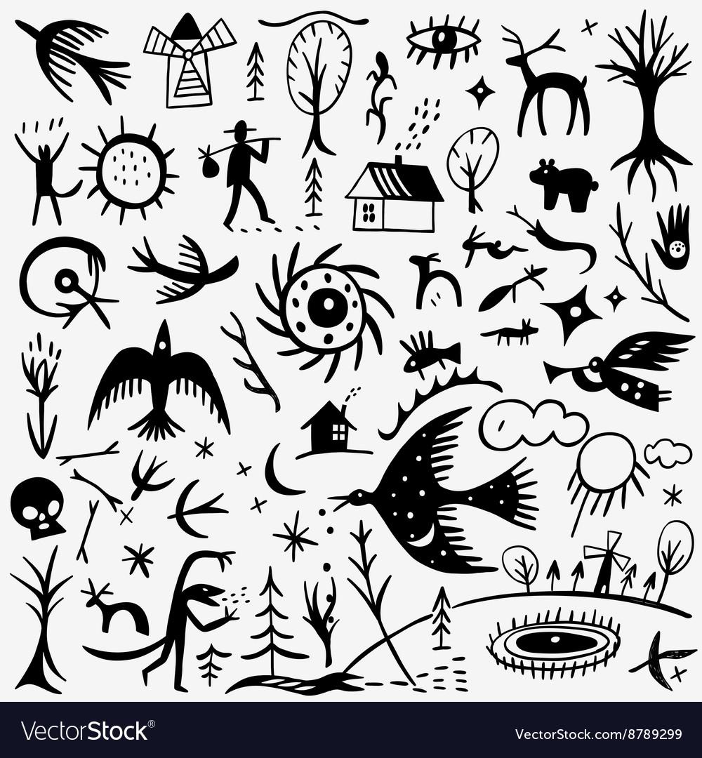 Nature fairy tale doodles