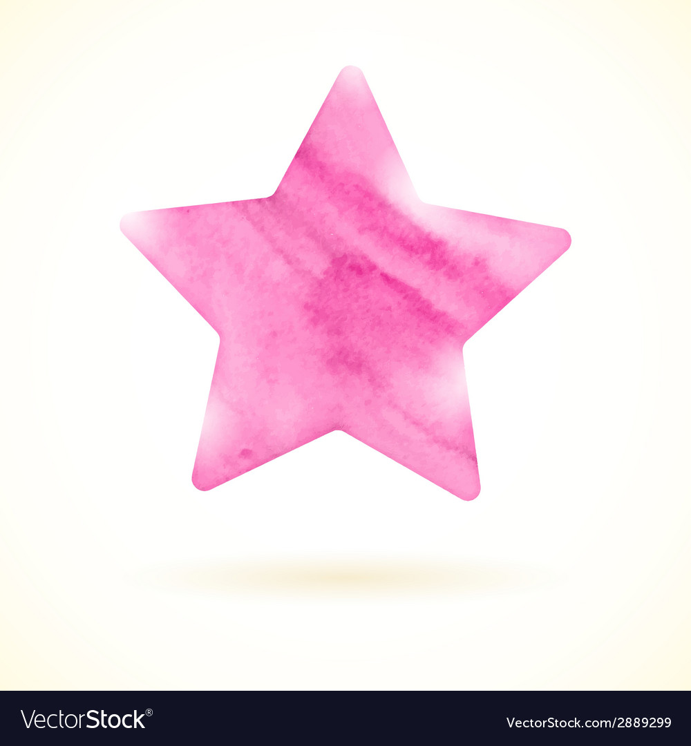 Pink watercolor star