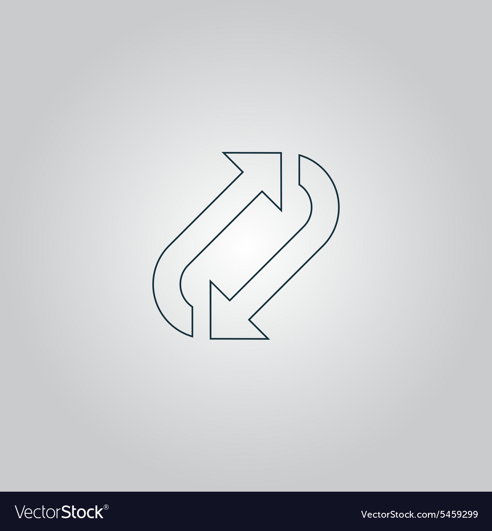 Repetition arrow vector image
