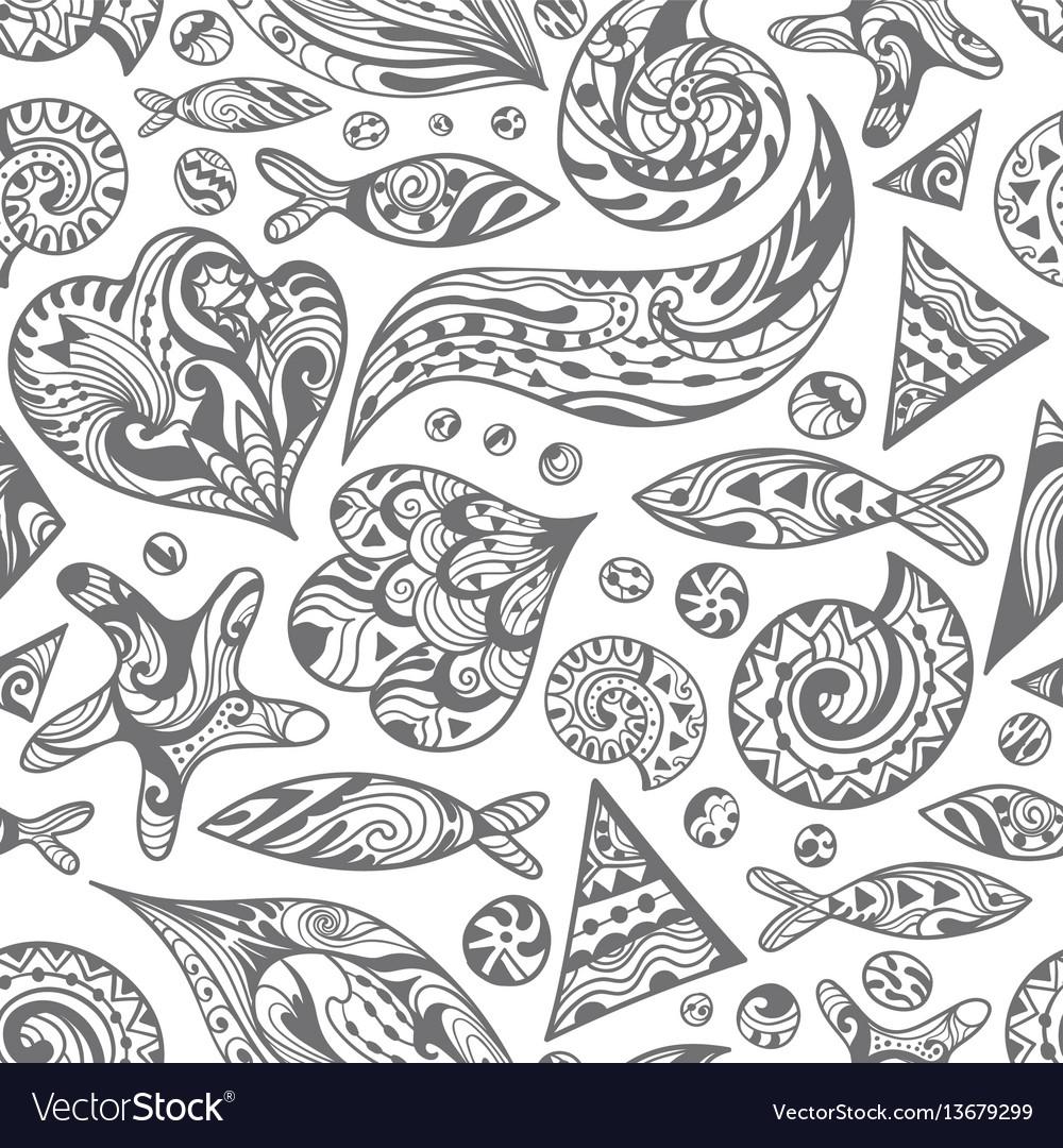 Sketch sea pattern