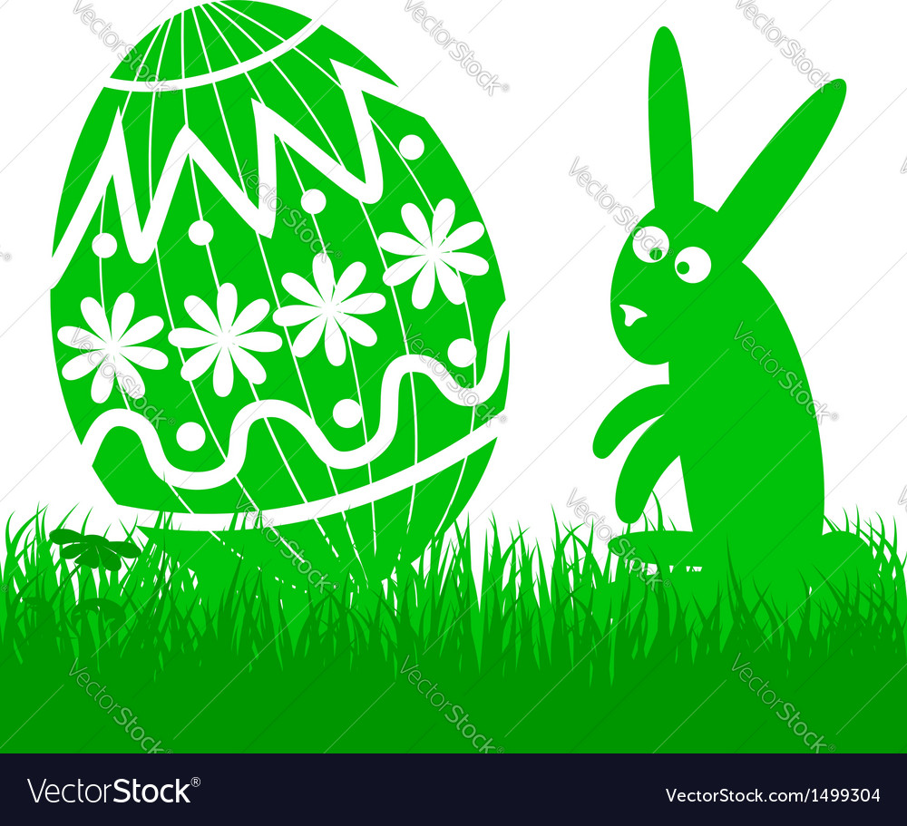 Easter egg and rabbit