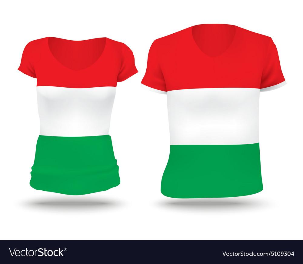 Flag shirt design of Hungary