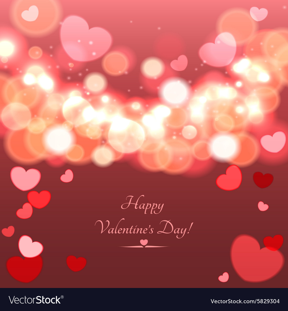 Glow Soft Hearts Valentines Day Background