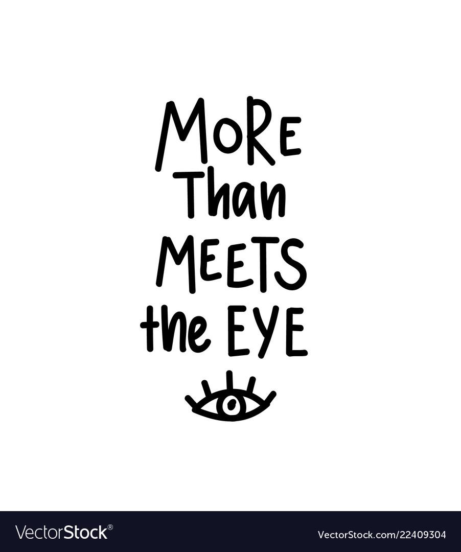 More than meets the eye romantic