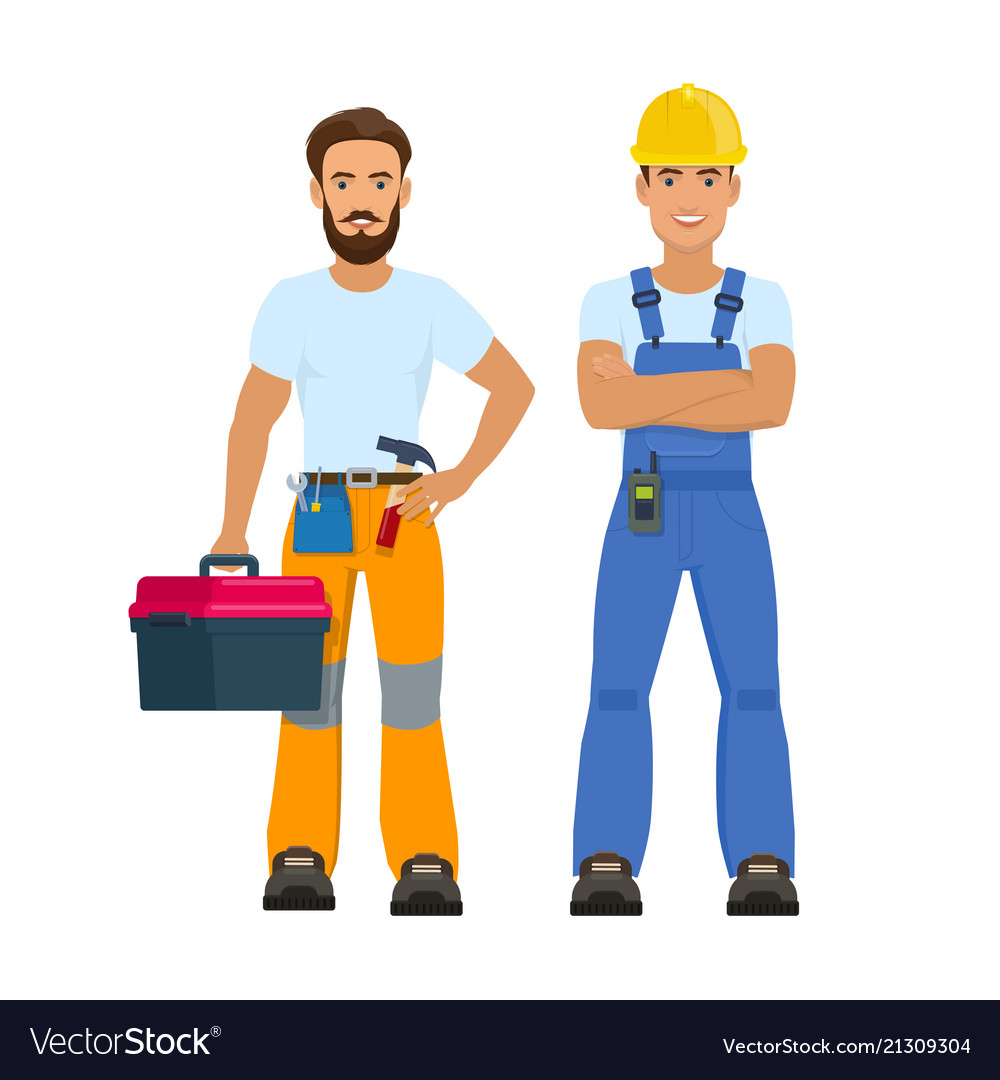 Professional construction workers
