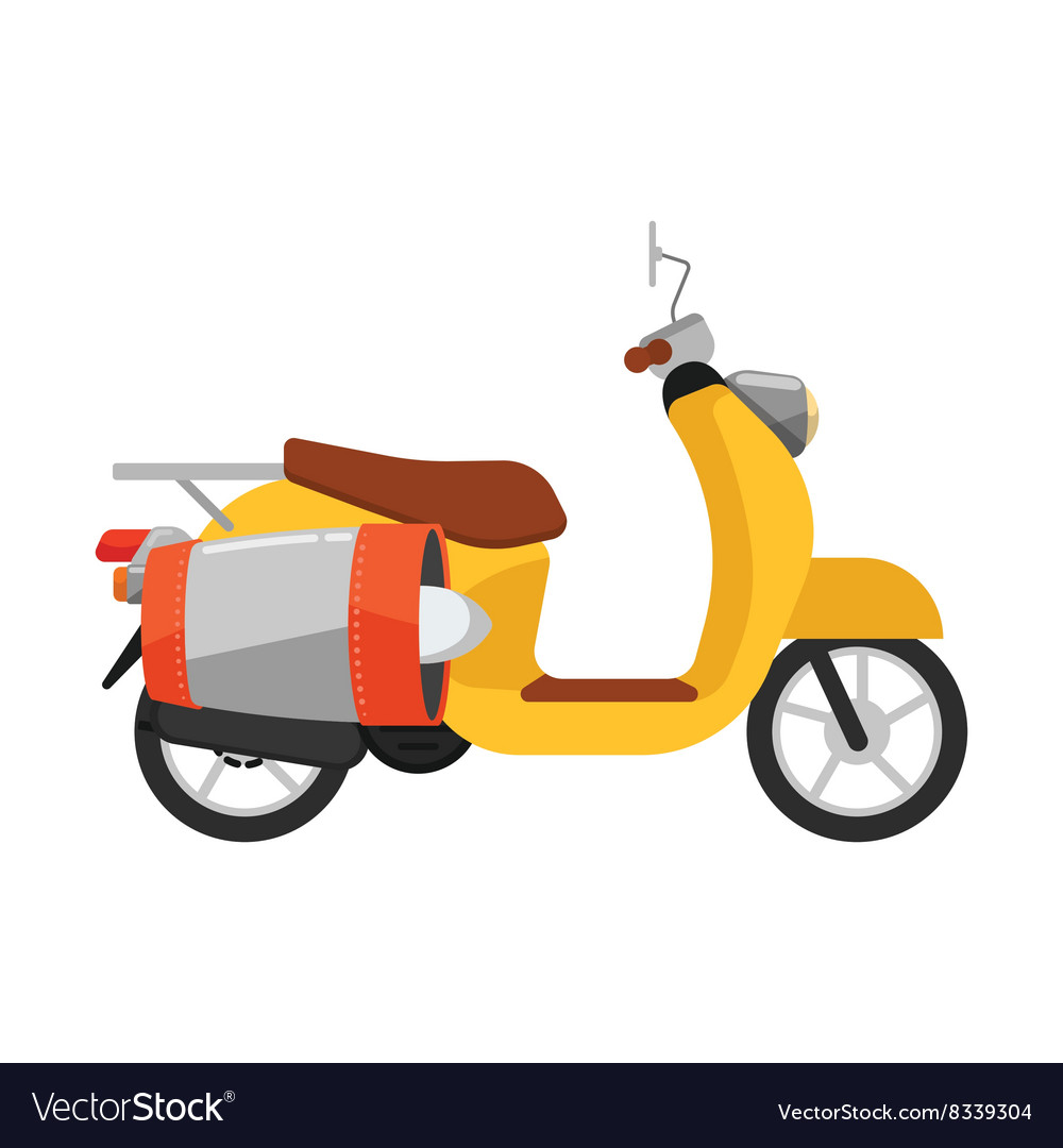 Scooter isolated Delivery transport icon